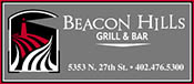 Beacon Hills Grill & Bar Menu - Lincoln NE - Provided by Metro Dining Delivery