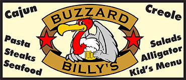 Buzzard Billy's Menu - Lincoln Nebraska - Provided by Metro Dining Delivery