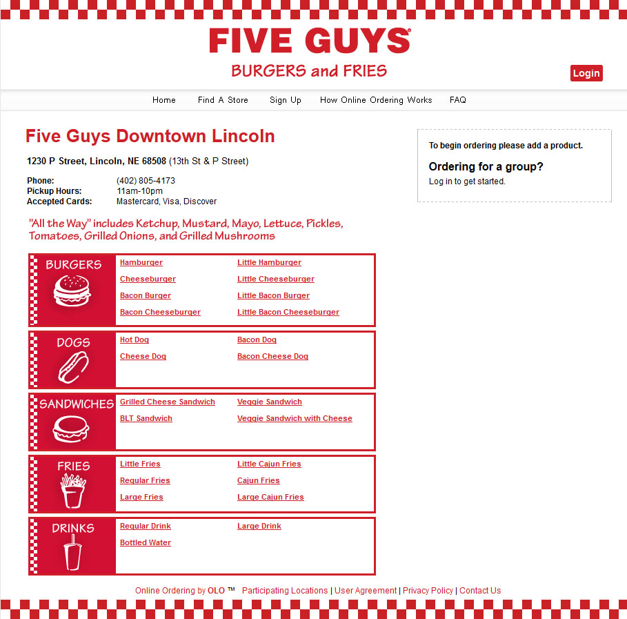 Five Guys Burgers And Fries Hot Dogs Five Guys Burger And Fries