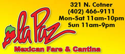 La Paz Mexican Fare & Cantina Menu Lincoln Nebraska