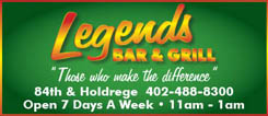 Legends Bar & Grill Lincoln Nebraska