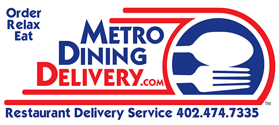 Metro Dining Delivery Restaurant Delivery Service -  402-474-7335 - Lincoln Nebraska - Downtown Restaurant Delivery