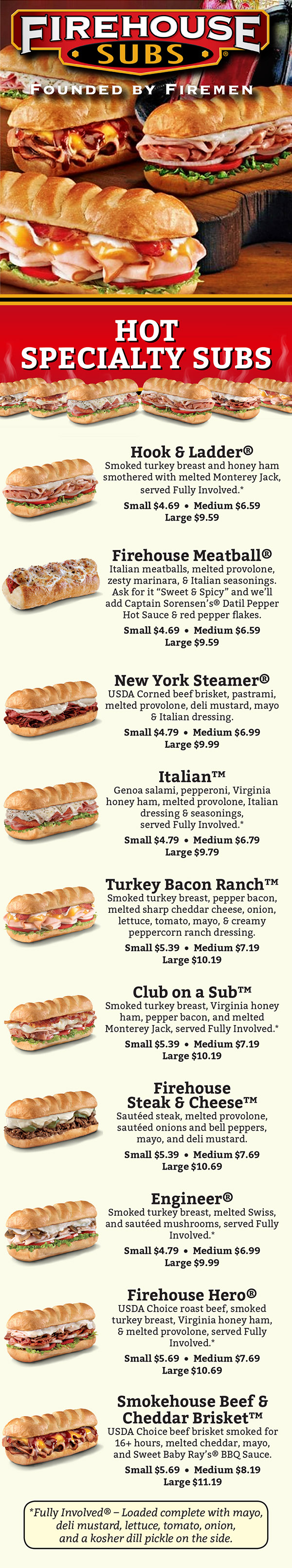 firehouse subs full menu with prices 200 n 66th st 201